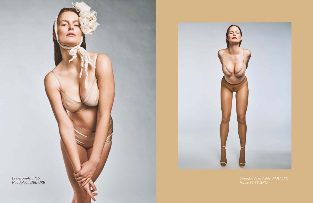 Nude Illusion. Photography – Ferry van der Nat Styling – Roel Schagen Hair  & Makeup – Liselotte van Saarloos Model – Marte B